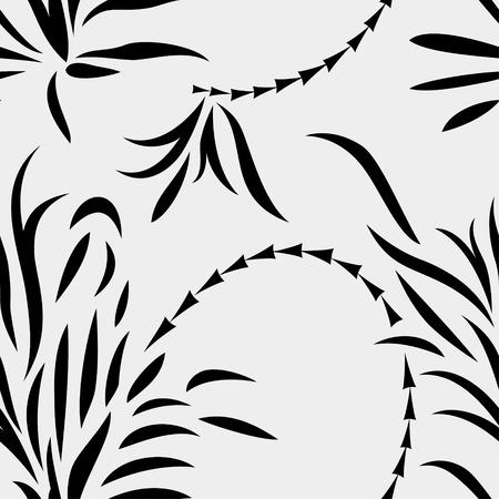 Seamless abstract plants Illustration
