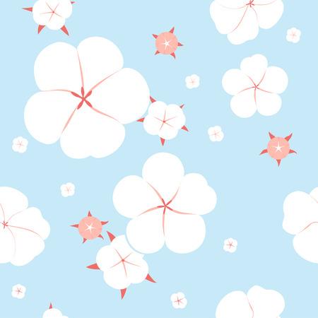 cotton: Seamless cotton plant