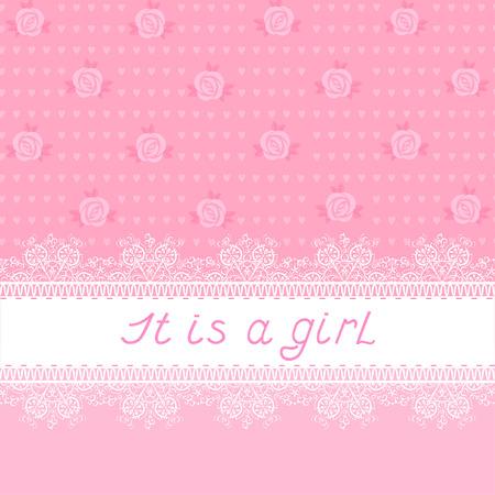 it girl: It is a girl Illustration