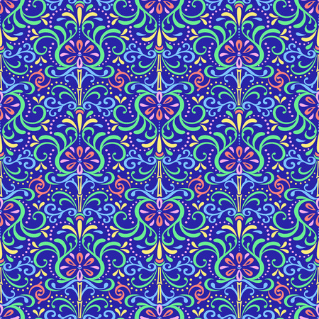 Pattern Oriental Flowers Illustration