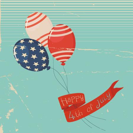 Vintage Independence Day Illustration