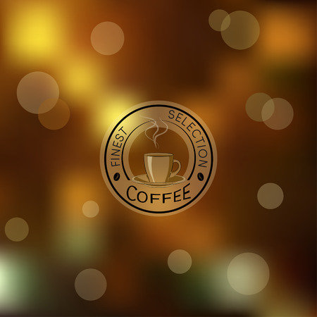 Brown golden blur with  coffee. Use gradient mesh