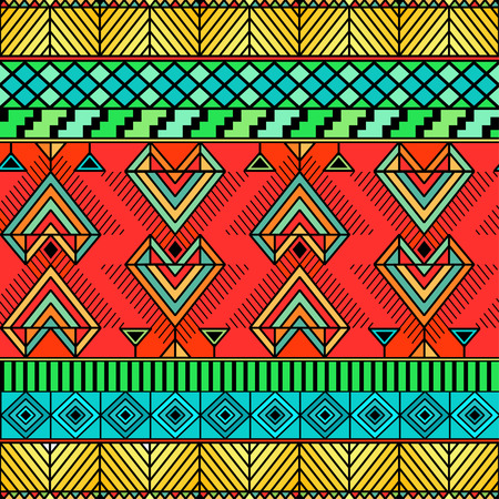Bright pattern in ethic style can be used as a seamless pattern or background