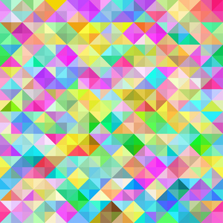Rainbow abstract seamless pattern in the form of square crystals