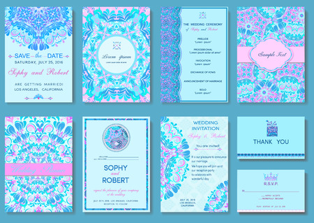 Luxury set templates flyers, invitations, cards, brochures with floral patterns for design ideas