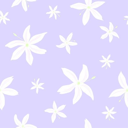 Tender pattern des fleurs de jasmin sur le fond violet
