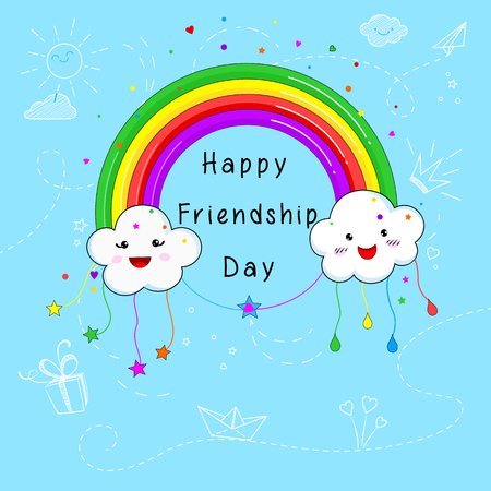 Happy Friendship Day card design