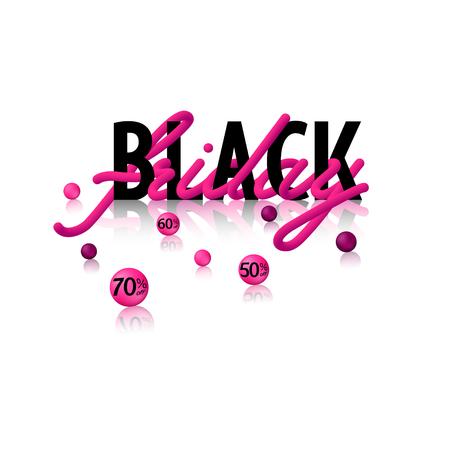 Black Friday 3d with balls Ilustração