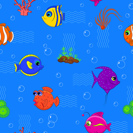 Colorful pattern of fish.