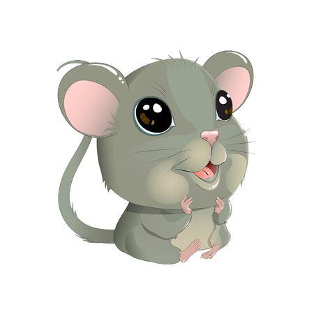 Cute vector mouse Ilustração