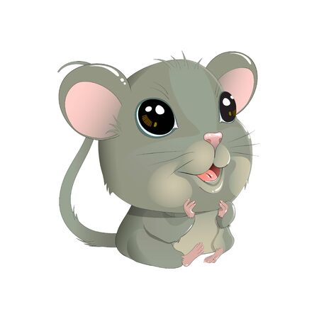 Cute vector mouse Illustration