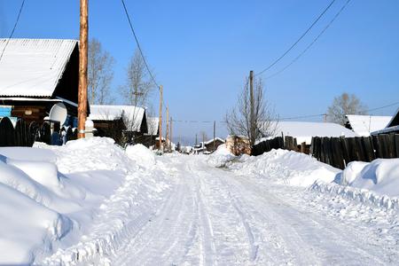 winter country landscape in Siberia