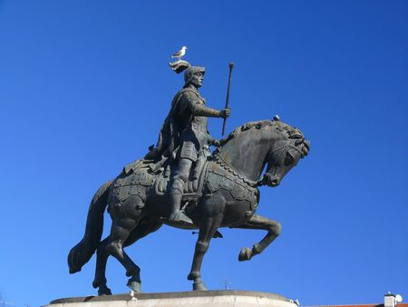 Landmark statue of Portugal showing determination and power Stock Photo