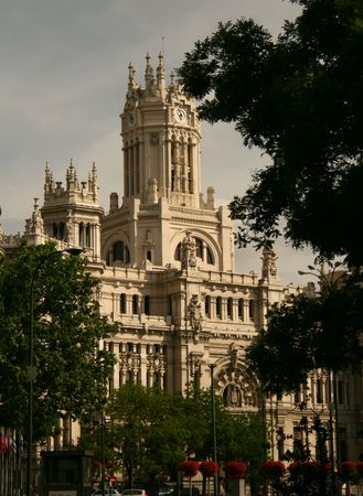 Old mail office in cibeles, madrid, which is now the government building of the region Stock Photo