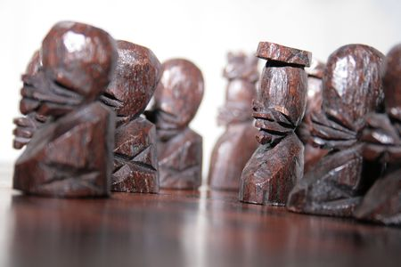 the ebony chess army of a southafrican handmade chess