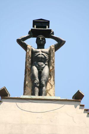 God of architecture over Madrid photo