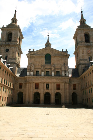 entrance to main church of escorial basilica where the papers of inquisition processes were kept