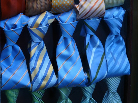 classic tie knots in italian silk and acid colors