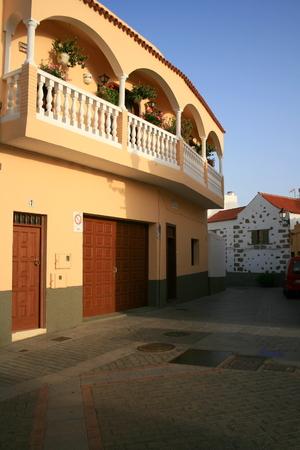 centenarian: porch in Canary Islands Stock Photo