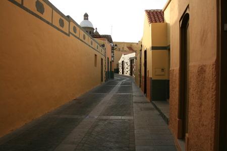 street of Canary Islands Stock Photo