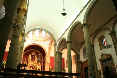 curch: Interior of Candelaria Curch in Ingenio, Canary Islands