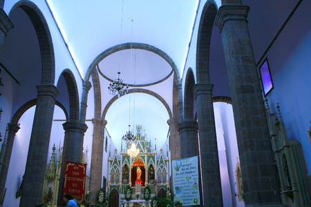 patron: Interior of Candelaria Curch in Ingenio, Canary Islands