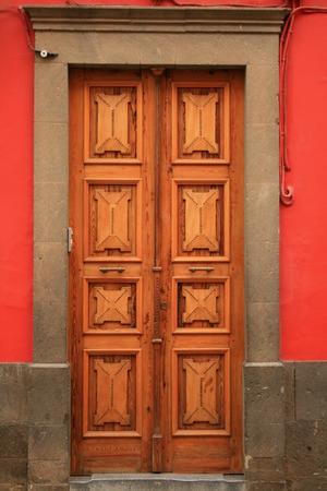 tropical door Stock Photo
