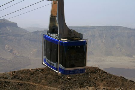 oxigen: funicular to the top of volcano Teide