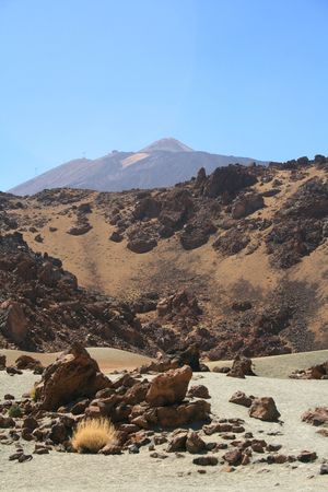 frozen lava current from Teide