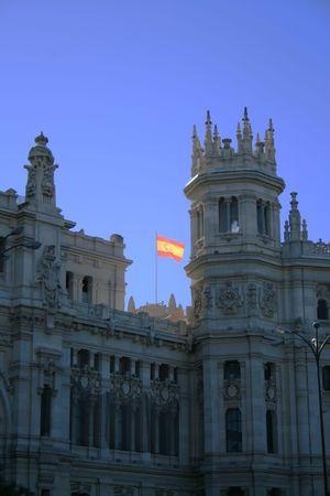 guild halls: flag of the city hall madrid