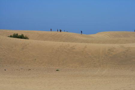 walk over dunes