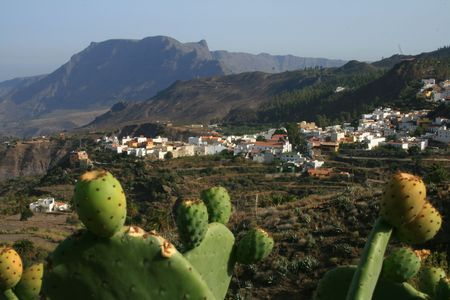 crater of Tirajana in the Canaries Stock Photo