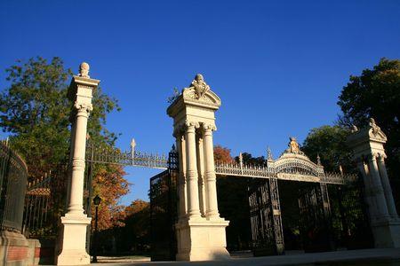 madrid park of el retiro Stock Photo
