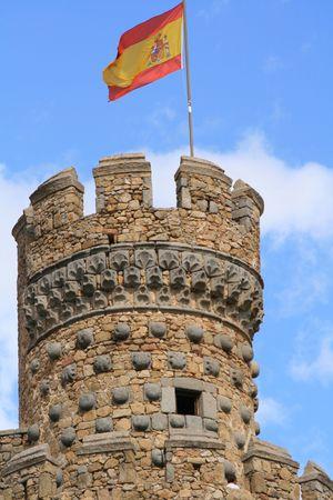 donjon: spanish castle donjon with flag