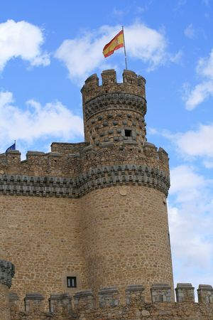 donjon: round donjon in Spanish castle