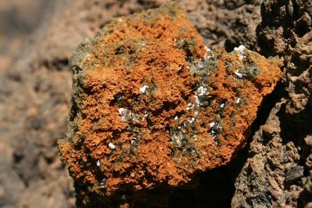 sulfur rock in the volcano Teide