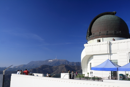 observatory in Hollywood Hills Editorial