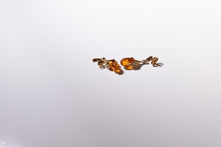 amber and gold earrings