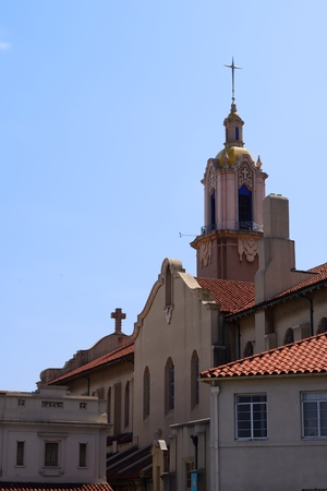 Colonial style, Blessed Heart Church in Sunset Blv, Hollywood
