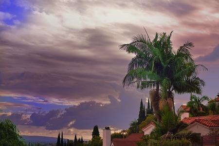 dramatic sky at Hollywood Hills