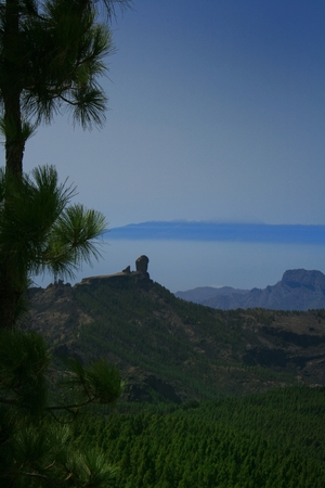 Tenerife island in the back seen from Gran Canaria