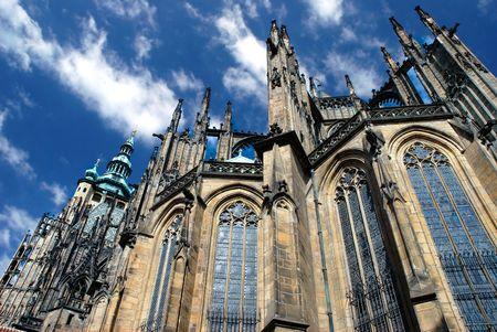 St. Vitus cathedral in Prague Castle.Czech Republic
