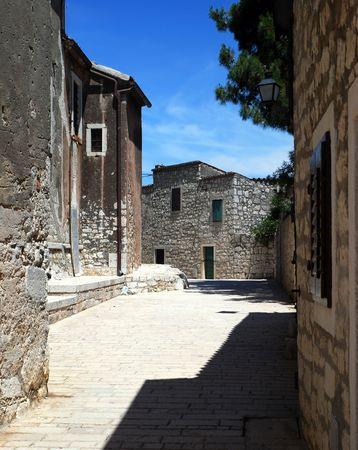 Romantic street in Rovinj, Croatia