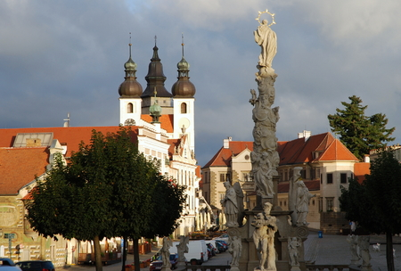 Telc, in the morning - square Zacharias of Hradec