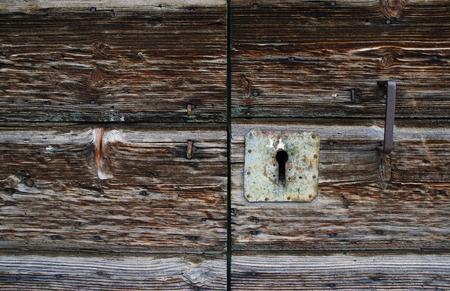 old wooden door, detail, Omis - Croatia Фото со стока