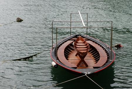 strangeness: boat, special picnic boat, Omis - Croatia