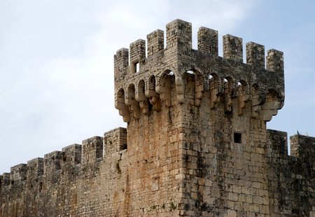 fortifications: detail of the medieval Fortifications, Trogir - Croatia