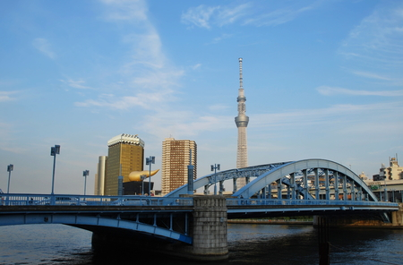 Tokyo - Skytree Tower, Sumida River, Asakusa Редакционное