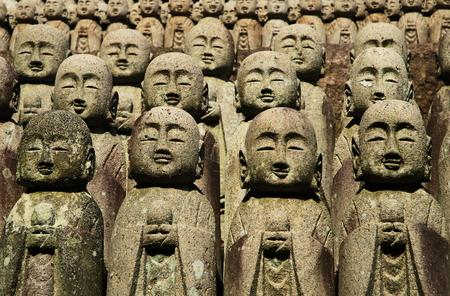 Jizo statues, Hasedera Temple, Kamakura - Japan Фото со стока