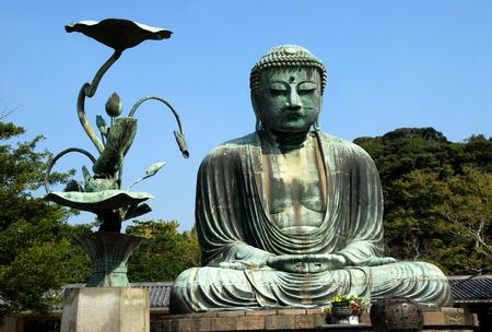 japan sky: Great Buddha, Kamakura City, Japan